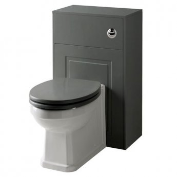 Prestige Astley Traditional Back to Wall Toilet with WC Unit 500mm - Soft Close Seat