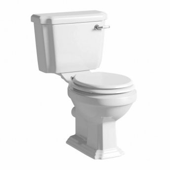 Prestige Astley Close Coupled Toilet WC with Cistern - Soft Close Seat