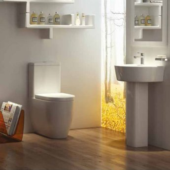 Prestige Athens Close Coupled Toilet Push Button Cistern Soft Close Seat