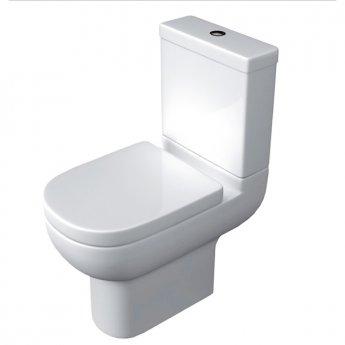 Prestige Chiron Close Coupled Toilet Push Button Cistern Soft Close Seat