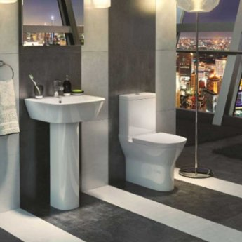 Prestige Code Close Coupled Toilet with Push Button Cistern - Soft Close Seat
