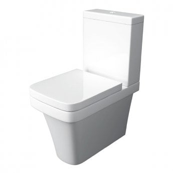 Prestige Sicily Close to Wall Close Coupled Toilet WC with Cistern - Soft Close Seat