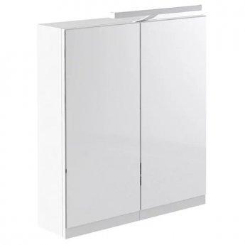 Prestige Cruz Mirror Cabinet with Light & Shaver Socket 600mm Wide White