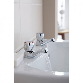 Prestige Dusk 3/4 Basin Taps Pair Chrome