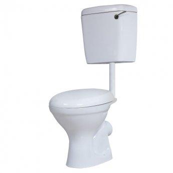Prestige Dusk Low Level Toilet WC Side Feed Cistern - Soft Close Seat