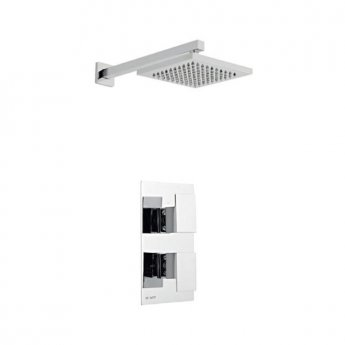 Prestige Element Option 2 Thermostatic Concealed Shower Valve with Fixed Shower Head and Arm - Chrome