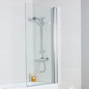 Prestige Estuary Straight Square Bath Screen 1400mm High x 780mm Wide