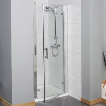 Prestige Estuary Hinged Shower Door 900mm Wide - 6mm Glass