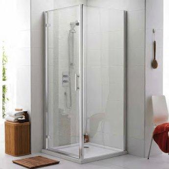 Prestige Estuary Hinged Shower Door 700mm Wide - 6mm Glass