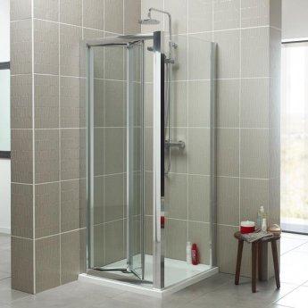 Prestige Estuary Bi-Fold Shower Door 760mm Wide - 4mm Glass