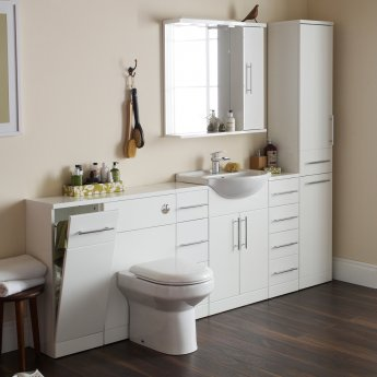 Prestige Encore Back to Wall WC Toilet Unit 500mm Wide x 300mm Deep - White