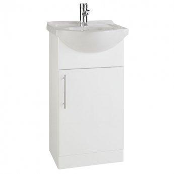 Prestige Evolve Bathroom Vanity Unit & Basin 450mm White 1 Tap Hole