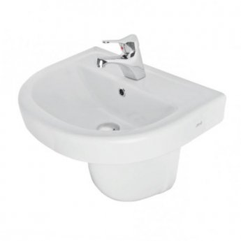 Prestige Felicite Basin with Semi Pedestal 550mm Wide 1 Tap Hole