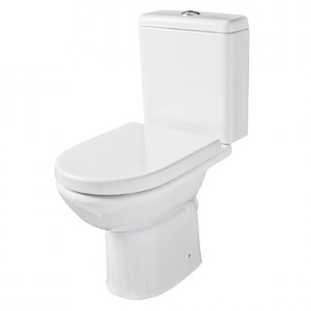 Prestige Felicite Close Coupled Toilet Push Button Cistern Soft Close Seat