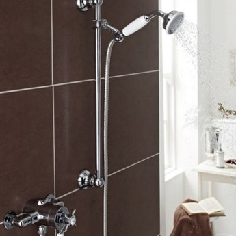 Prestige Klassique Option 4 Thermostatic Exposed Shower Valve with Adjustable Slide Rail Kit - Chrome