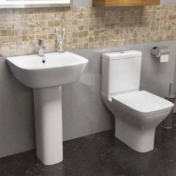 Prestige Komodo Close Coupled Toilet Push Button Cistern Soft Close Seat