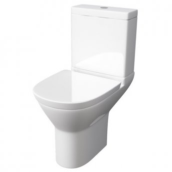 Prestige Komodo Close Coupled Round Toilet Push Button Cistern Soft Close Seat