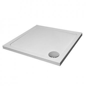 Prestige KT35 Square Shower Tray with Waste 760mm x 760mm Stone Resin
