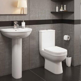 Prestige Lifestyle Basin with Full Pedestal 450mm Wide 1 Tap Hole