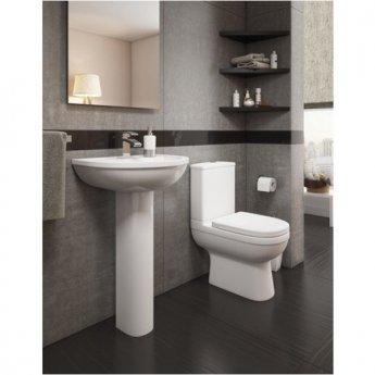 Prestige Lifestyle Close Coupled Toilet WC with Cistern - Premium Soft Close Seat