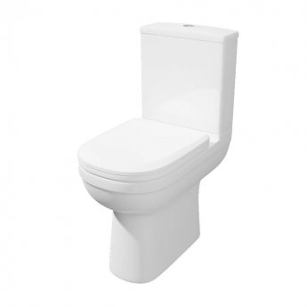 Prestige Lifestyle Comfort Height Close Coupled Toilet WC with Cistern - Premium Soft Close Seat