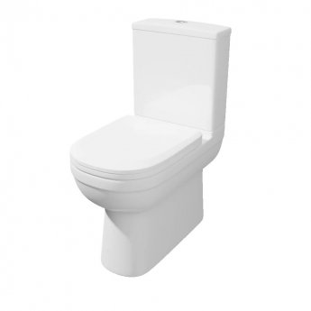 Prestige Lifestyle Close to Wall Close Coupled Toilet WC with Cistern - Premium Soft Close Seat