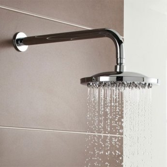 Prestige Logik Option 2 Thermostatic Concealed Shower Valve with Fixed Shower Head and Arm - Chrome