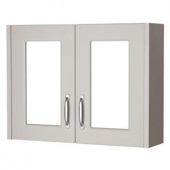 Prestige Luxor 2-Door Mirror Cabinet 800mm Wide Stone Grey