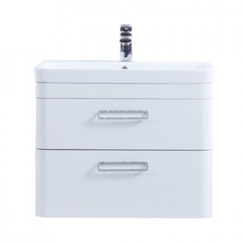 Prestige Marlow 2-Drawer Wall Hung Vanity Unit with Basin 800mm Wide White 1 Tap Hole