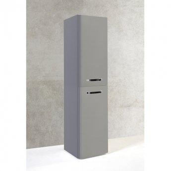 Prestige Options Wall Mounted Tall Storage Unit 350mm Wide Basalt Grey