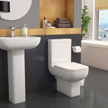 Prestige Options Close Coupled Toilet WC with Cistern - Soft Close Seat