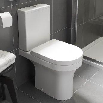 Prestige Ozone Rimless Close Coupled Toilet with Push Button Cistern - Premium Soft Close Seat