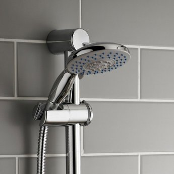 Prestige Plan Option 1 Thermostatic Concealed Shower Valve with Adjustable Slide Rail Kit - Chrome