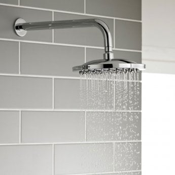 Prestige Plan Option 2 Thermostatic Concealed Shower Valve with Fixed Shower Head and Arm - Chrome