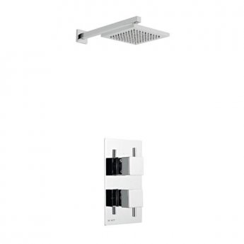 Prestige Pure Option 2 Thermostatic Concealed Shower Valve with Fixed Shower Head and Arm - Chrome