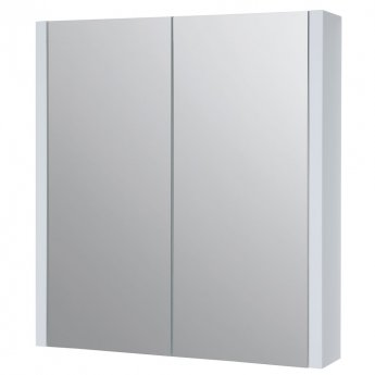 Prestige Purity Mirrored Bathroom Cabinet 600mm W White