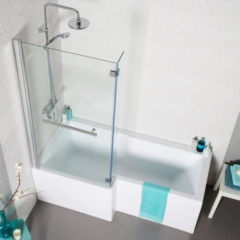Prestige Tetris L Shaped Shower Bath 1500mm x 700mm/850mm Left Handed