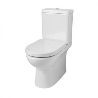 Prestige Tria Rimless Close Coupled Toilet WC with Cistern - Soft Close Seat