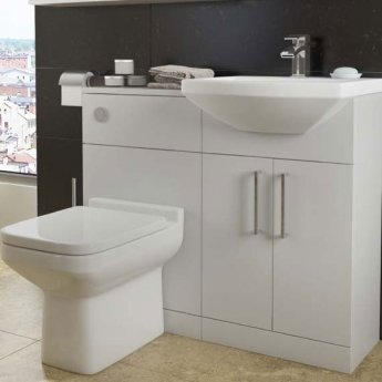 Prestige Trim Back to Wall Toilet Unit with Cistern and Soft Close Seat