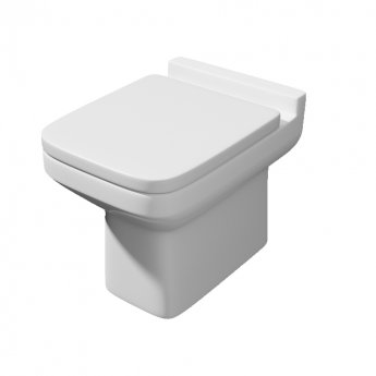 Prestige Trim Back to Wall Toilet WC - Soft Close Seat
