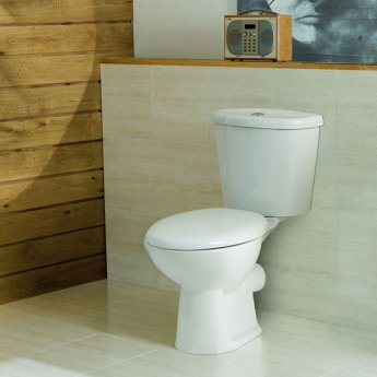 Prestige Uranus Close Coupled Toilet with Dual Flush Cistern - Soft Close Seat