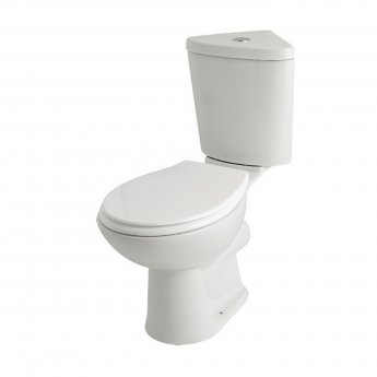 Prestige Uranus Close Coupled Toilet with Dual Flush Corner Cistern - Soft Close Seat