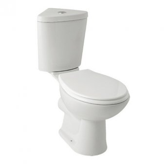 Prestige Uranus Close Coupled Toilet with Dual Flush Corner Cistern - Soft Close Seat