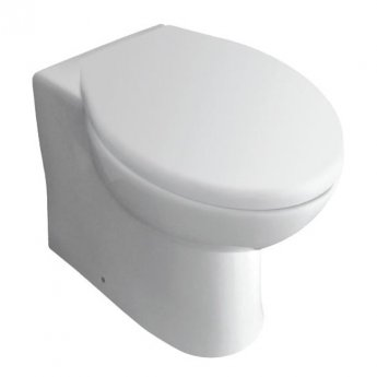 Prestige Uranus Back to Wall Toilet WC Pan Soft Close Seat