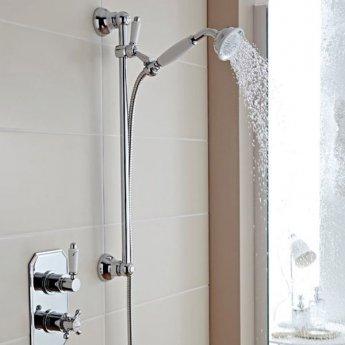 Prestige Viktory Thermostatic Dual Concealed Mixer Shower Adjustable Slide Rail Kit + Fixed Head