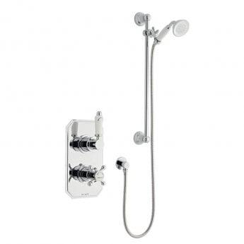 Prestige Viktory Thermostatic Dual Concealed Shower with Adjustable Slide Rail Kit