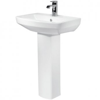 Prestige Vivanta Basin with Full Pedestal 550mm Wide 1 Tap Hole