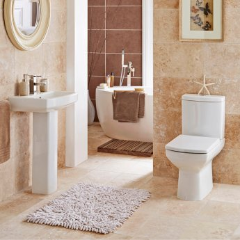 Prestige Vivanta Close Coupled Toilet Push Button Cistern Soft Close Seat