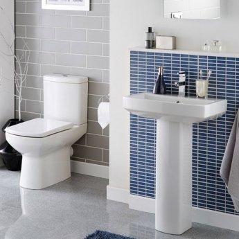 Prestige Vivanta Close Coupled Back to Wall Toilet Push Button Cistern Soft Close Seat