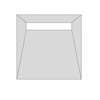 Purus Linear Wet Room Former Kit, 850mm x 850mm, 7sqm Tanking Liquid